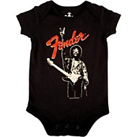 Fender Jimi Hendrix Peace Sign Onesie Black 12-18 Month