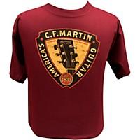 Martin Triangle Headstock T-Shirt Maroon Small