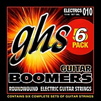 Ghs Boomers Gbl Light Electric Guitar Strings (10-46) 5-Pack