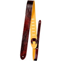 Perri's Italian Garment Leather Guitar Strap With Premium Suede Backing Mahogony 2