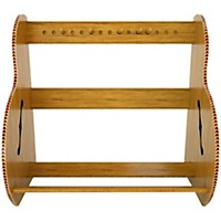 A&S Crafted Products Studio Deluxe Guitar Case Rack Red Oak Short Size (5-7 Cases)