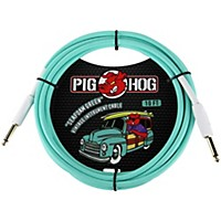 Pig Hog Instrument Cable 10 Ft. Seafoam Green