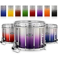 Pearl Championship Maple Varsity Lacquer Ffx Marching Snare Drum Fade Bottom Finish 14 X 12 In. Purple Silver #976