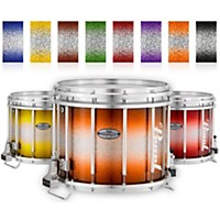 Pearl Championship Maple Varsity Lacquer Ffx Marching Snare Drum Burst Finish 13 X 11 In. Orange Silver #978