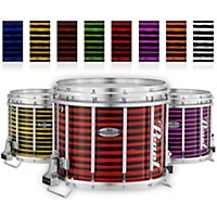 Pearl Championship Maple Varsity Lacquer Ffx Marching Snare Drum Spiral Finish 14 X 12 In. Garnet #994