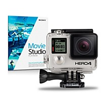 Gopro Hero4 Black Standard With Sony Movie Studio 13 Platinum