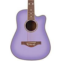 Daisy Rock Wildwood Spruce Top Cutaway Acoustic Guitar Purple Daze