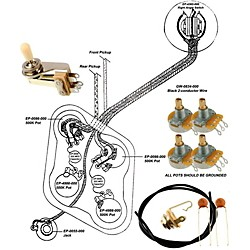 Allparts Ep-4147-000 Wiring Kit For Gibson Es-335