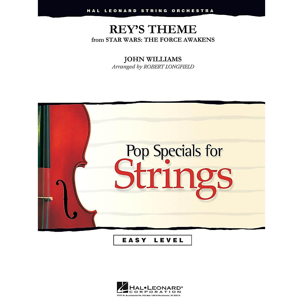 Hal Leonard Rey's Theme From Star Wars: The Force Awakens Easy Pop Specials For Strings 1500000006363