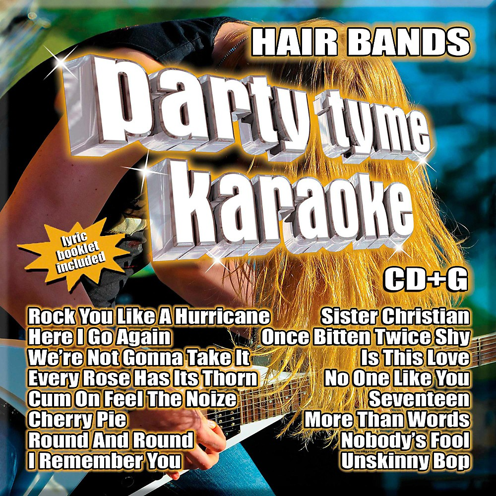Sybersound Party Tyme Karaoke - Hair Bands 1500000014035