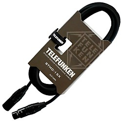 Telefunken Studio Series Premium Xlr Mic Cable 30 Ft. Black