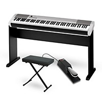 Casio Cdp-130 Digital Piano Silver With Cs44  ...