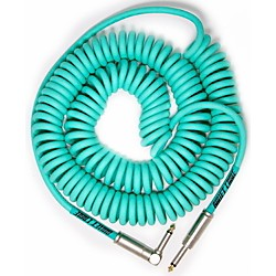 Bullet Cable 30' Coil Cable Straight Angle  Sea Foam Green