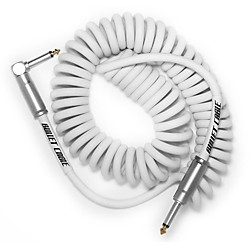 Bullet Cable 15' Coil Cable Straight Angle 15 Ft. White
