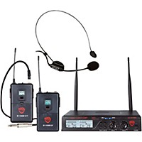 Nady U-2100 Hm/Gt Dual 100 Channel Wireless Instrument And Headmic System Band A And B