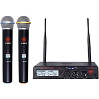 Nady U-2100 Ht Dual 100 Channel Uhf Handheld Wireless Microphone System Band A And B