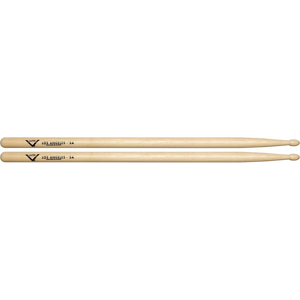 7. Vater 5A Wood Tip Hickory Drum Sticks