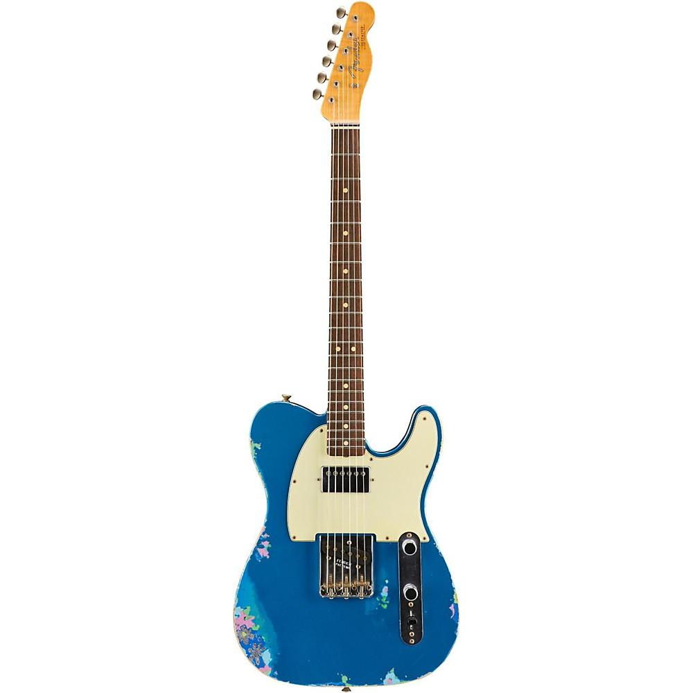 Fender Custom Shop Limited Edtion 60S H/S Relic Tele Aged Lake Placid Blue Over Blue Flower 1500000022150
