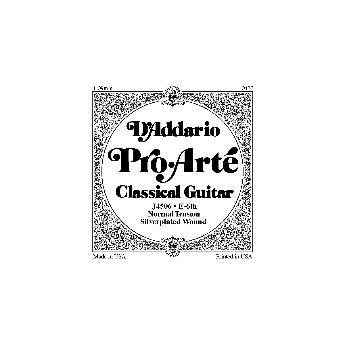 D'Addario J45 E-6 Pro-Arte Composite Normal LP Single Classical Guitar String