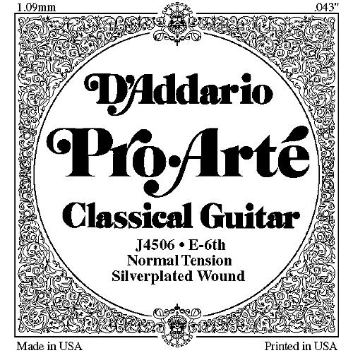 D'Addario J45 E-6 Pro-Arte Composite Normal LP Single Classical Guitar String