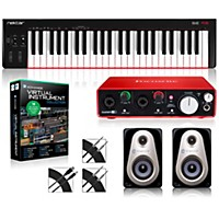 Nektar Se49 49-Key Usb Midi Keyboard Controller Packages  Advanced Virtual Instrument Package