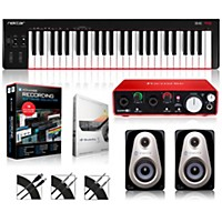 Nektar Se49 49-Key Usb Midi Keyboard Controller Packages  Advanced Recording Package