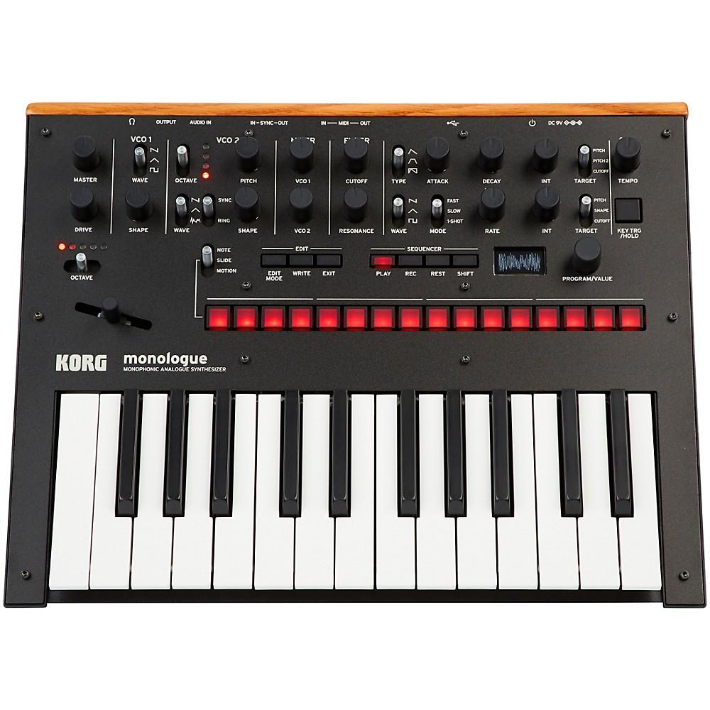 Korg Monologue Monophonic Analog Synthesizer Black
