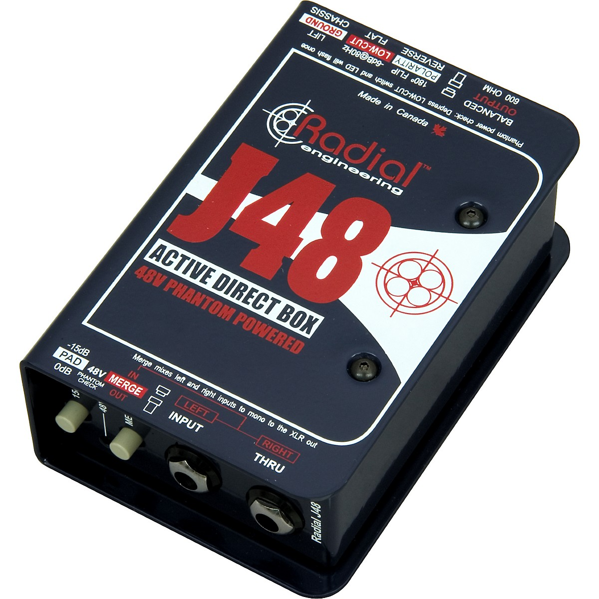 Radial Engineering J48 Phantom Powered Active Direct Box