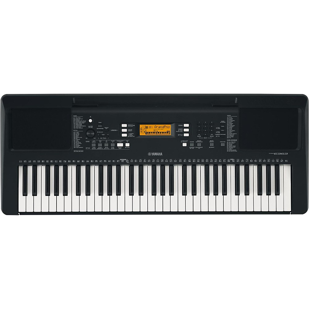Yamaha Psr-E363 61-Key Portable Keyboard Black