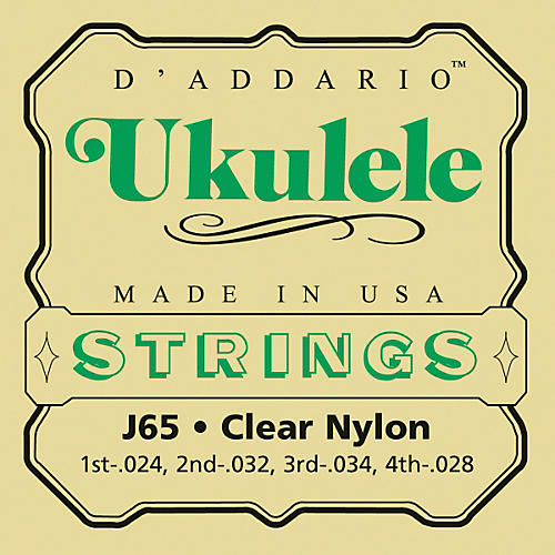 D'Addario J65 Nylon Ukulele Strings