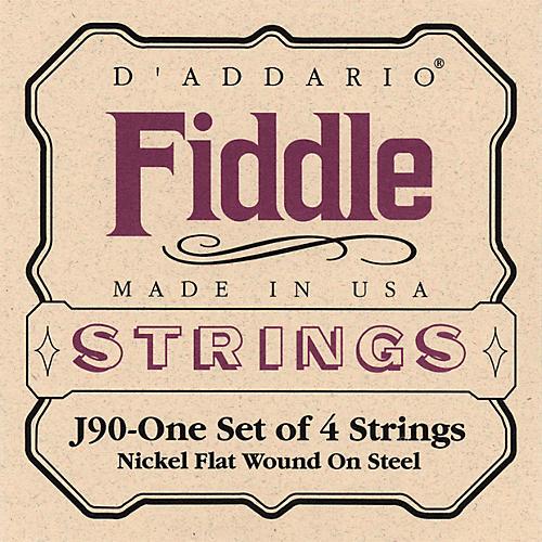 D'Addario J90 Fiddle 4/4 Size Chrome/Steel String Set