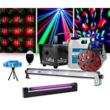 CHAUVET DJ JAM Pack Diamond with VEI Mini Laser, Party Bulb and UV Blacklight Lighting Package