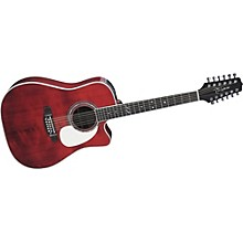 Takamine JJ325SRC12 John Jorgenson Signature 12-String Acoustic-Electric Guitar Level 1 Gloss Red Stain