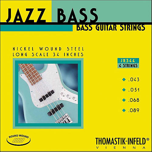 Thomastik JR344 Scale Roundwound 4-String Jazz Bass Strings