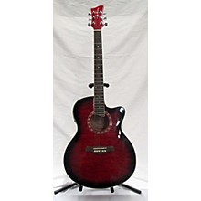 Jay Turser JTA424QCET-RSB Acoustic Electric Guitar