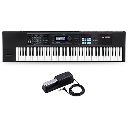 Roland JUNO-DS76 Synthesizer With DP-10 Pedal
