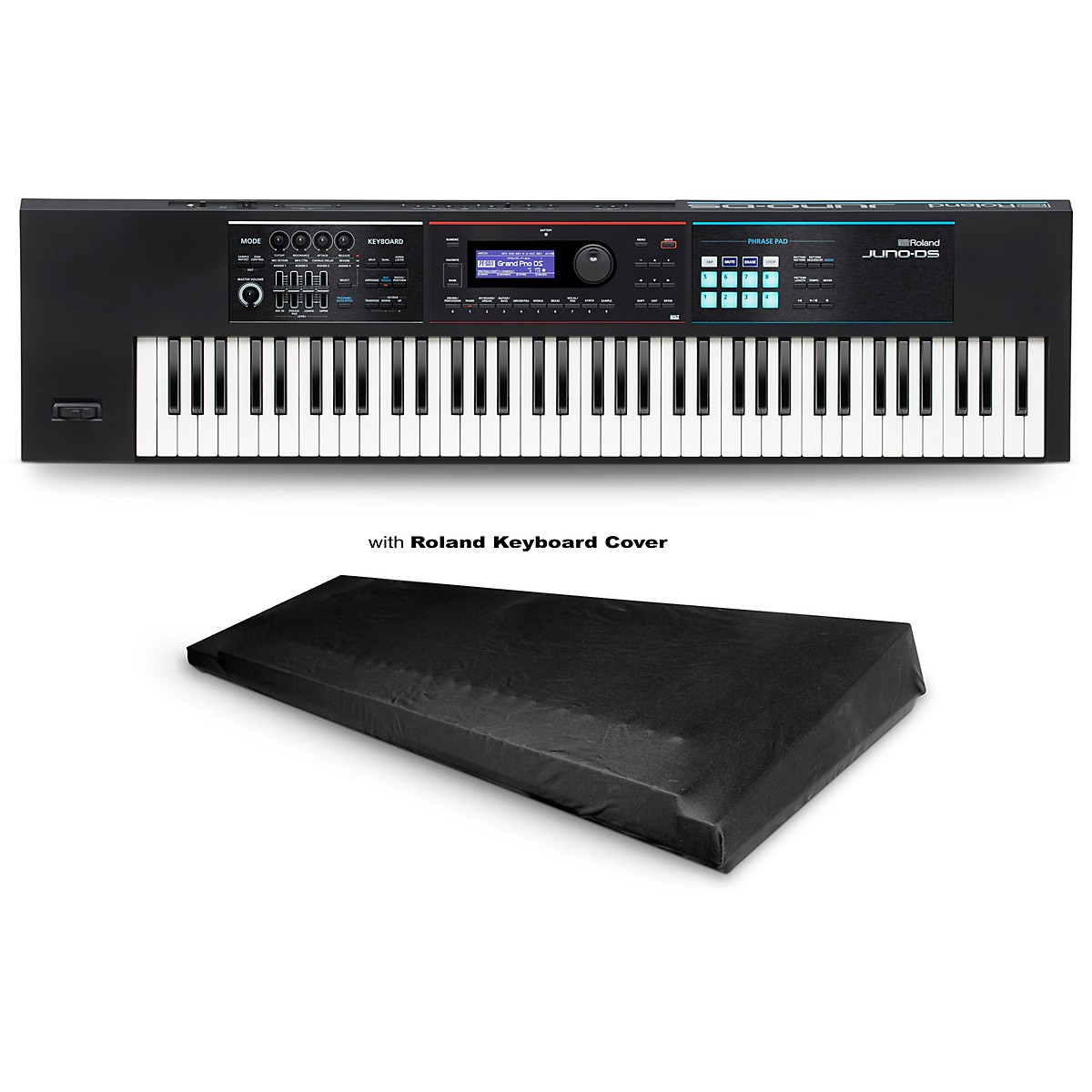 Roland JUNO-DS76 Synthesizer with Medium Dust Cover