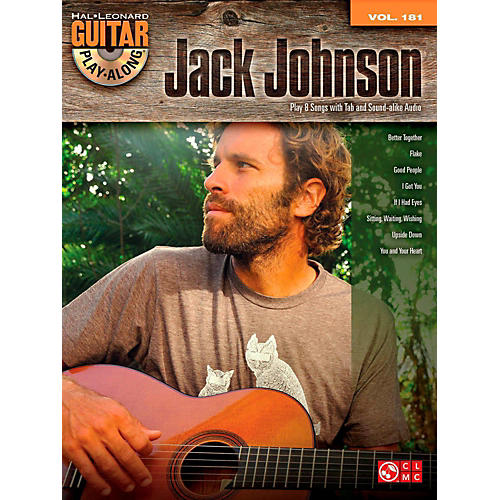 Cherry Lane Jack Johnson - Guitar Play-Along Volume 181 Book/CD