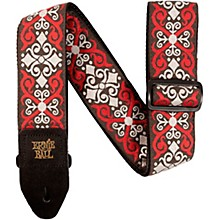 Jacquard Guitar Strap Red Trellis