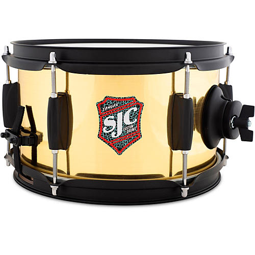 SJC Drums Jam Can Side Snare With Brushed Brass Wrap