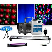 Jam Pack Emerald with VEI Mini Laser, Party Bulb and Blacklight Lighting Package