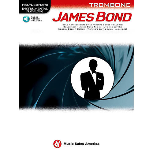 Music Sales James Bond For Trombone - Instrumental Play-Along Book/Online Audio
