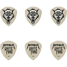 James Hetfield Signature White Fang Guitar Picks and Tin 1.0 mm 6 Pack