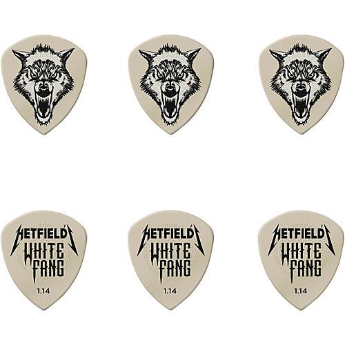 Dunlop James Hetfield Signature White Fang Guitar Picks and Tin