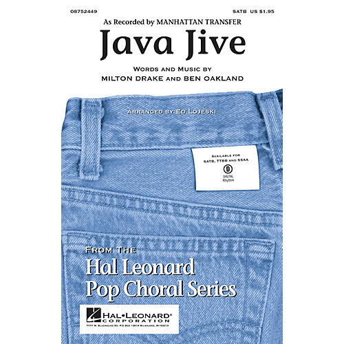 Hal Leonard Java Jive TTBB by Manhattan Transfer Arranged by Ed Lojeski
