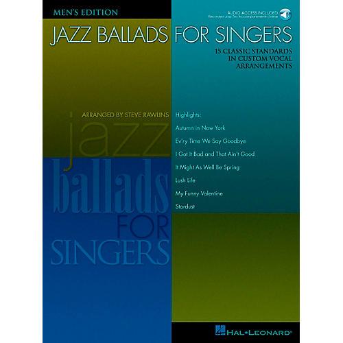 Hal Leonard Jazz Ballads for Singers - Men's Edition Book/CD