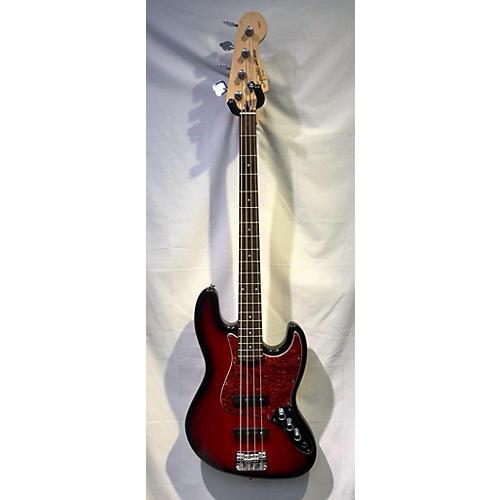 used squier jazz bass electric bass guitar cherry sunburst guitar center. Black Bedroom Furniture Sets. Home Design Ideas