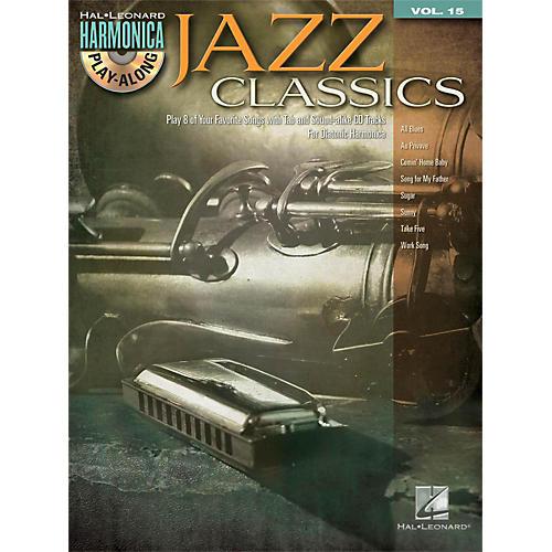 Hal Leonard Jazz Classics - Harmonica Play-Along Volume 15 Book/CD (Diatonic Harmonica)