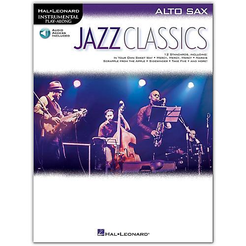 Hal Leonard Jazz Classics For Alto Sax Instrumental Play-Along Book/Audio Online