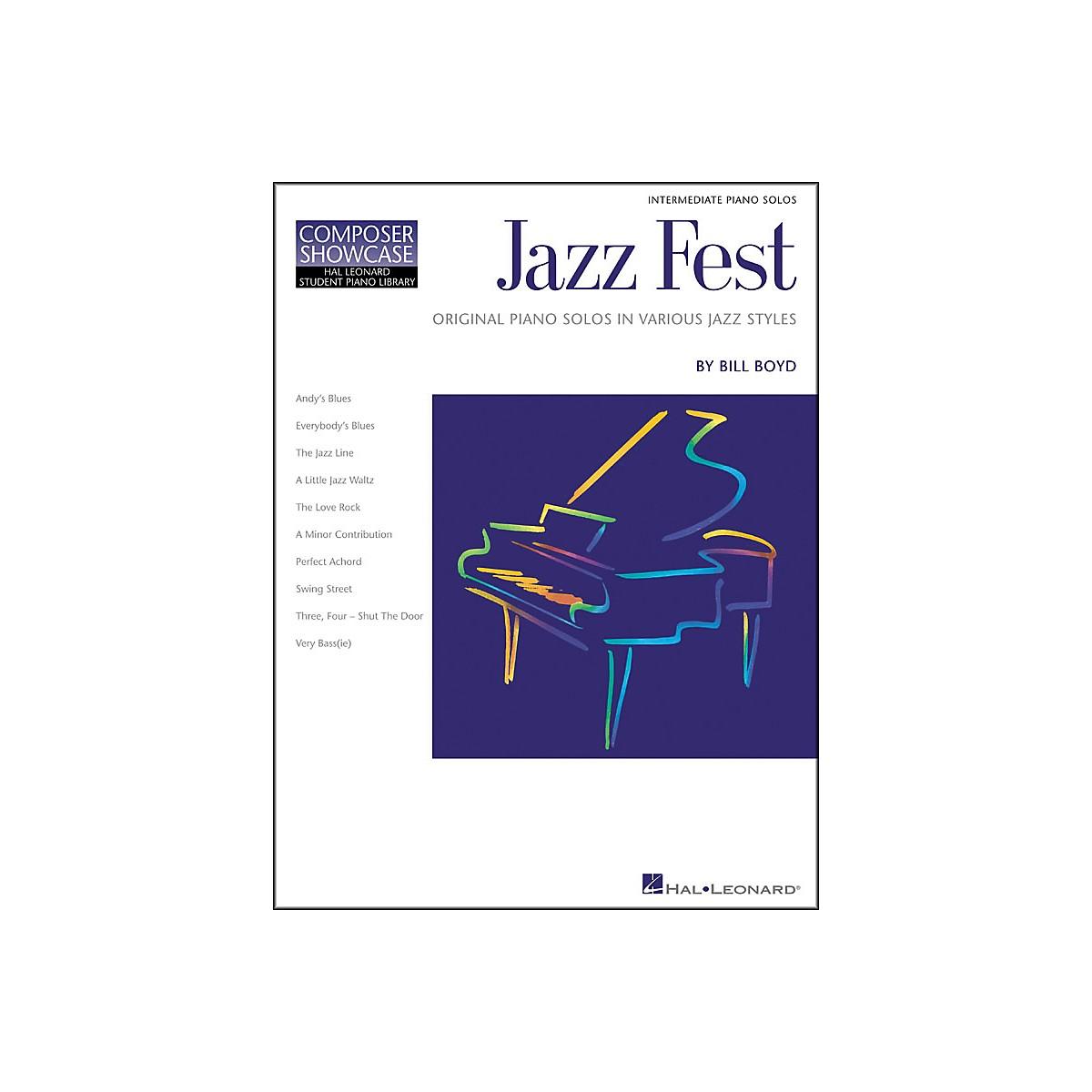 Hal Leonard Jazz Fest Intermediate Level Hal Leonard Student Piano Library by Bill Boyd